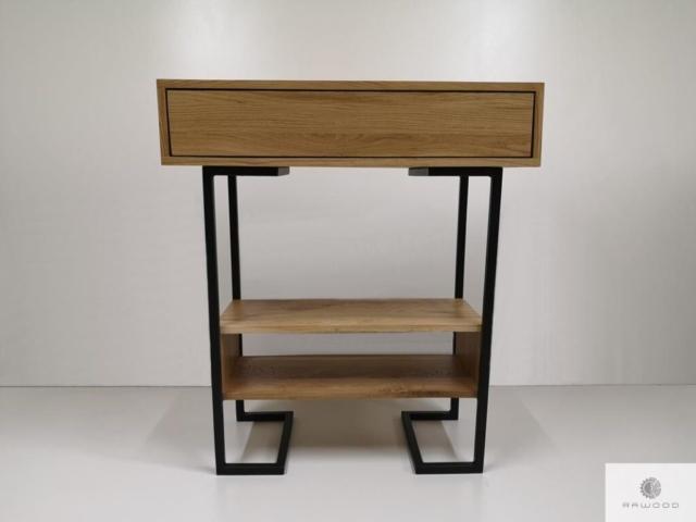Modern oak side table to hallway OLIMPIA find us on https://www.facebook.com/RaWoodpl/