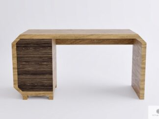 Wooden pine desk with drawers to office OMNIS
