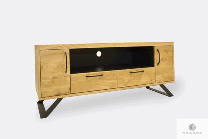 Oak lowboard with metal legs to hallway JORGEN