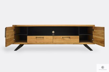 Industrial oak TV cabinet to living room JORGEN