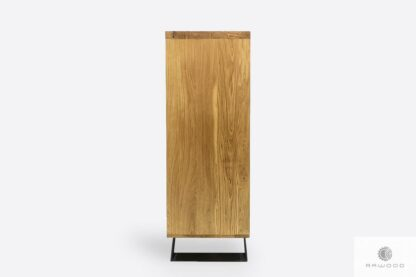 Chest of drawers of oak wood and metal to living room JORGEN