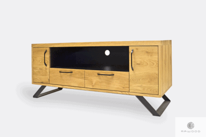 Tv stand of oak wood with drawers to living room JORGEN