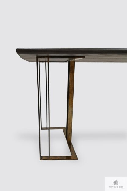 Table of oak wood on metal legs to dining room living room MERIDIAN Furniture Manufacturer RaWood Premium Furniture