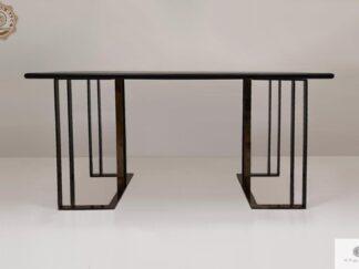 Stół z dębowego drewna na metalowych nogach do jadalni salonu MERIDIAN Producent Mebli RaWood Premium Furniture