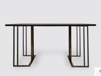 Table of oak wood on metal legs to dining room living room MERIDIAN