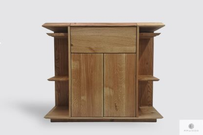 Oak bar cabinet for alcohol and glasses to dining room living room CARMEN I