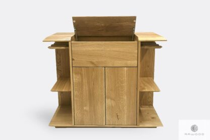 Design oak liquor cabinet for size to dining room CARMEN I