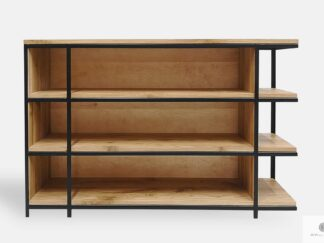 Oak bookcase of solid wood to office living room HUGON