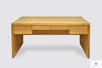 Modern oak desk with drawers to office DAVOS