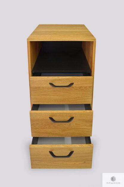 Oak chest of drawers bookcase for order JORGEN