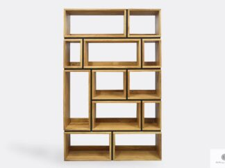 Oak bookcase to living room office LIVO