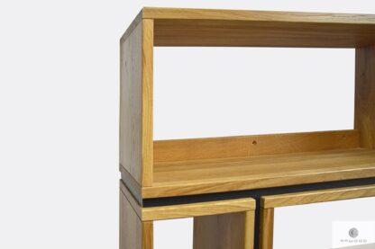Designer wooden bookcase of natural wood LIVO