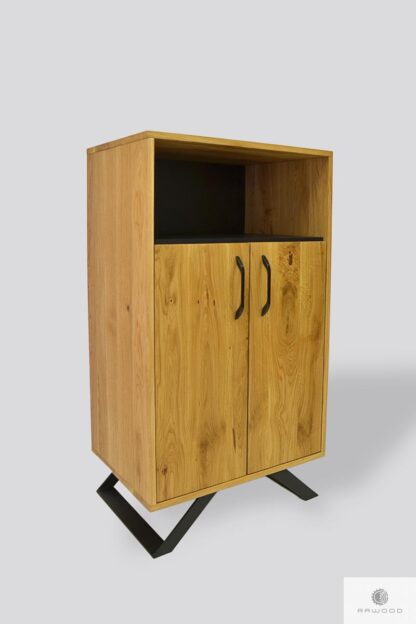 Wooden bookcase industrial chest of drawers JORGEN