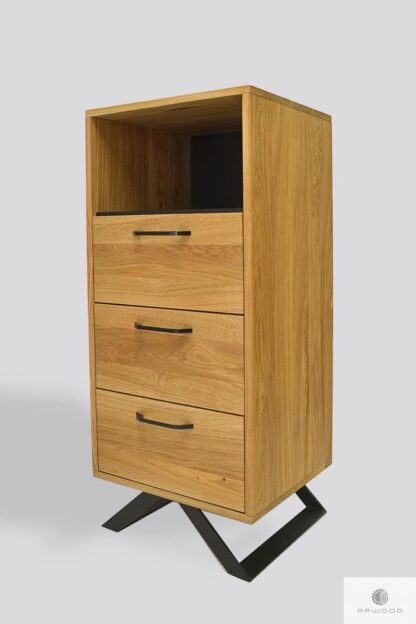 Wooden bookcase of solid wood JORGEN