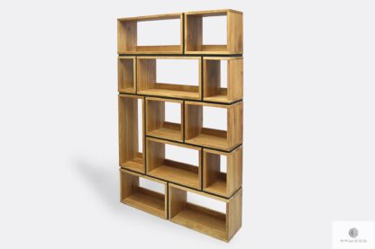 Modern wooden bookcase for books to living room LIVO