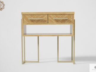 Oak console table with drawers to living room hallway CARIN Furniture Manufacturer RaWood Premium Furniture