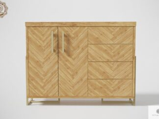 Chest of drawers of oak wood to living room CARIN Furniture Manufacturer