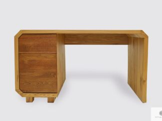 Large oak desk with drawers to office OMNIS
