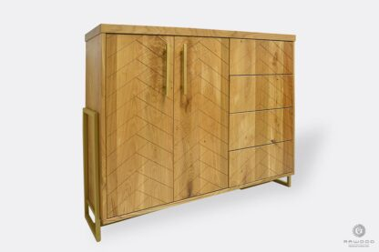 Oak dresser with drawers cabinets for size to bedroom CARIN