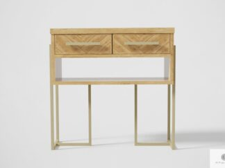 Oak console table with drawers to living room hallway CARIN