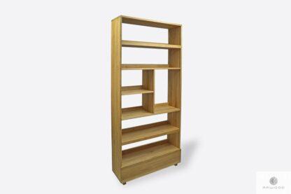Design oak bookcase for room DAVOS