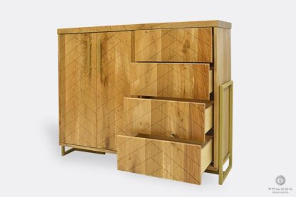 Oak chest of drawers for order to living room CARIN