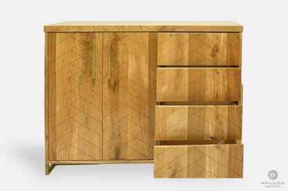 Dresser of solid wood with drawers to bedroom CARIN