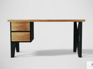 Modern oak desk on metal legs to office GORAN