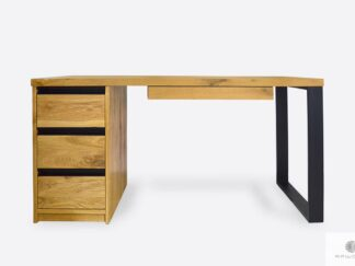 Oak desk with drawers of solid wood to office MARLON