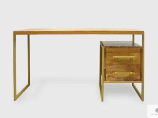 Industrial wooden desk with metal legs to office GERDA