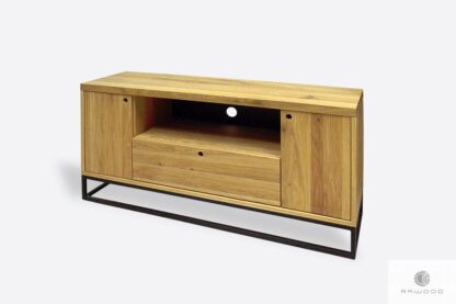Oak TV stand with drawers to living room MERIS