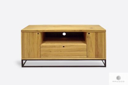 Oak lowboard on metal base to living room MERIS