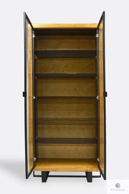 Oak modern display cabinet to living room MOCCA II