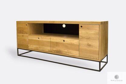 Industrial oak TV cabinet on metal legs MERIS