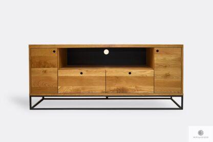 Industrial oak TV cabinet loft to living room MERIS
