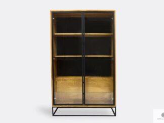 Industrial oak loft display cabinet to living room office MERIS