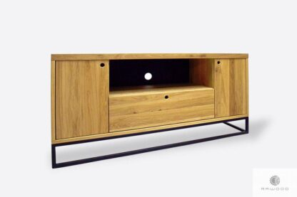 Modern oak TV cabinet with drawers to living room MERIS