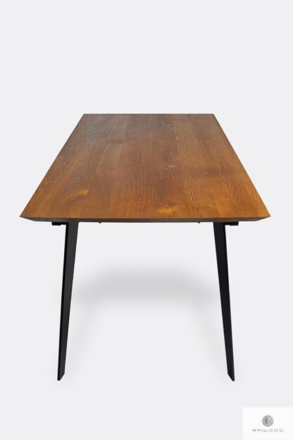 Table with oak tabletop and metal legs to dining room CORTEZ