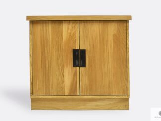 Oak chest of drawers with shelves of solid wood to living room WALT II