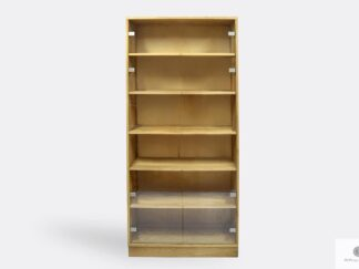 Oak display cabinet with shelves to living room office ANDORA