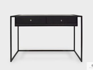 Industrial desk loft console table of wood and metal with drawers BRAN