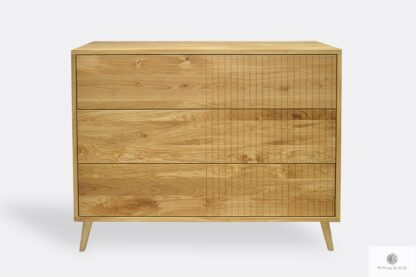 Stylish oak sideboard with drawers to living room bedroom NESS