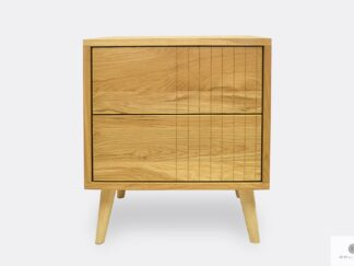 Oak night cabinet with drawers to bedroom NESS