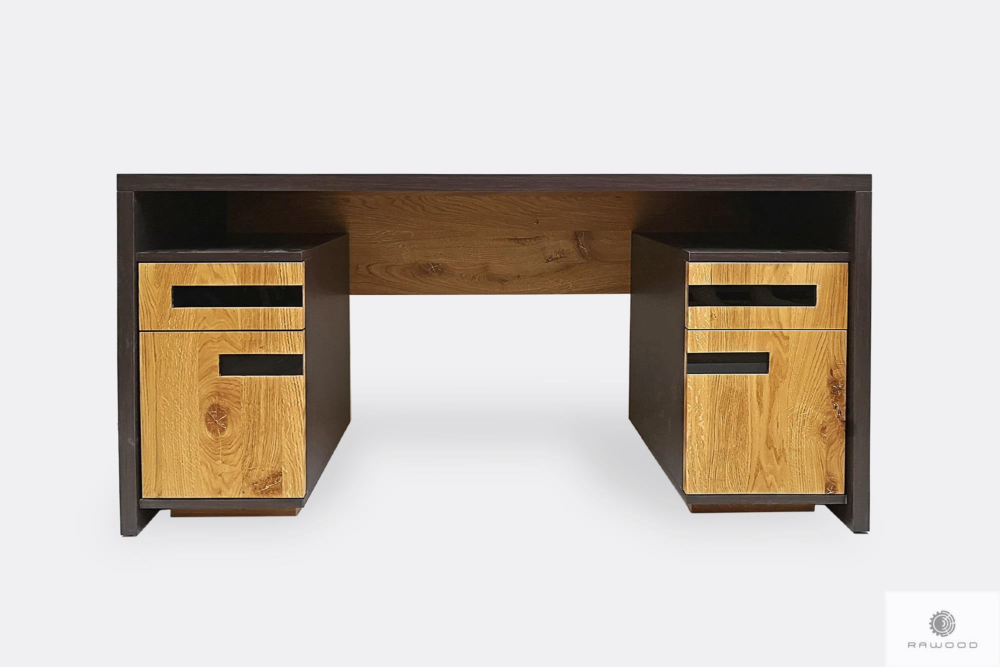 Oak modern desk of solid wood to office LAGOS