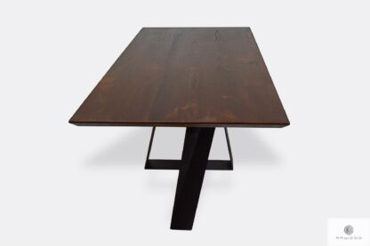 Industrial loft oak table to dining room living room BORNEO I