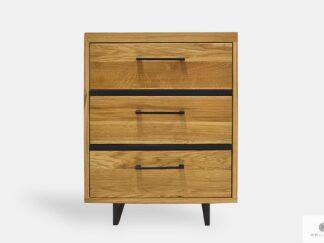 Oak dresser with drawers on metal legs HUGON II