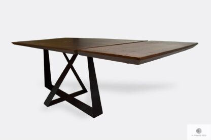 Oak folding table with extendable plates to dining room BORNEO I