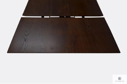 Table with oak tabletop with extendable plates to dining room BORNEO I