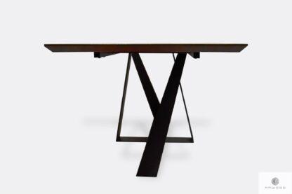 Industrial table black powder coated metal legs BORNEO I