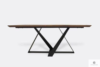 Industrial oak table on metal legs BORNEO I